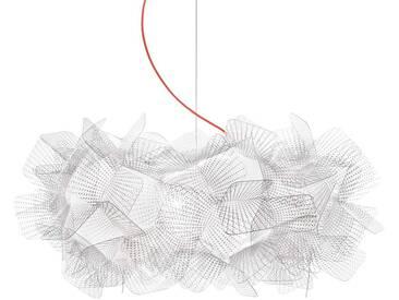 Slamp Clizia Pixel Hängelampe, Kabel rot, Ø 53 cm