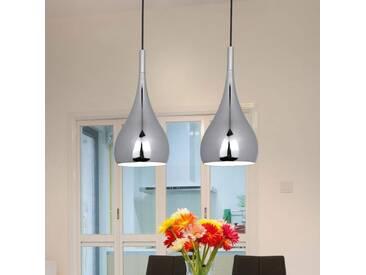 Pendelleuchte Anja mit Dimmer, u.a. für Wohn & Esszimmer aus Metall in Chrom von Naeve Leuchten (2 flammig, E27, A++)