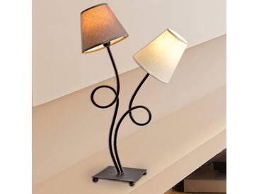 Tischlampe Twiddle, u.a. für Wohn & Esszimmer aus Textil in Weiß von Naeve Leuchten (2 flammig, E14, A++)