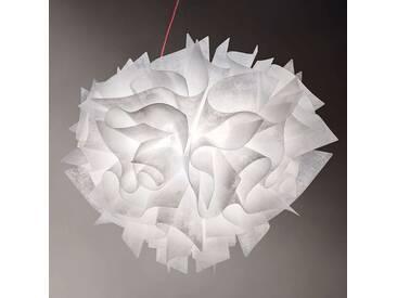 Pendelleuchte Veli Couture, u.a. für Wohn & Esszimmer aus Kunststoff in Weiß von Slamp (2 flammig, E27, A++)