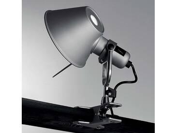 Wandleuchte, Wandlampe Innen Tolomeo Pinza, u.a. für Schlafzimmer aus Aluminium in Alu von Artemide (1 flammig, E27, A++)