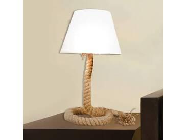 Tischlampe Rope, u.a. für Wohn & Esszimmer aus Metall in Creme von Naeve Leuchten (1 flammig, E27, A++)
