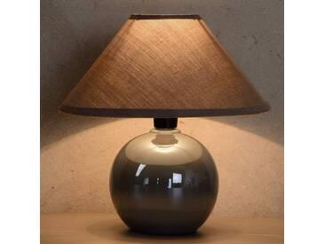 Tischlampe Faro, u.a. für Wohn & Esszimmer aus Keramik in Alu von Lucide (1 flammig, E14, A++)