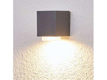 """Wandleuchte außen """"Jovan"""" aus Aluminium in Alu von """"Lampenwelt.com"""", IP44 (1 flammig, GU10, A++)"""