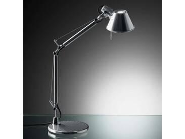 Tischlampe Tolomeo Micro mit Dimmer, u.a. für Büro aus Aluminium in Alu von Artemide (1 flammig, E14, A++)