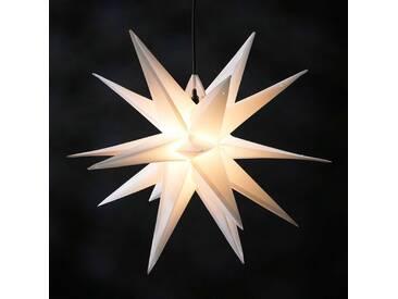 Kunststoff-Stern Jumbo Ø 1m außen 18 Zacken weiß
