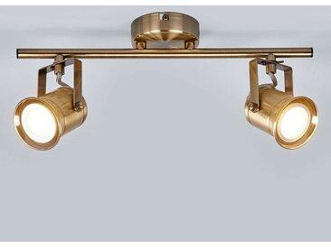 """Strahler """"Marlis"""" mit Dimmer, u.a. für Flur aus Metall in Bronze von """"Lampenwelt.com"""" (2 flammig, GU10, A++)"""