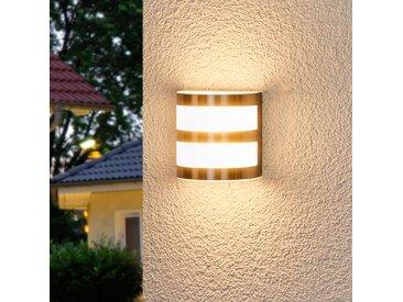 """LED Wandleuchte außen """"Lucja"""" aus Edelstahl in Alu von """"Lindby"""", IP44 (1 flammig, A+)"""