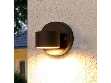 Grafitgraue LED-Außenwandlampe Lexi