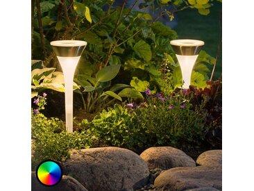 """Solarleuchte """"Assisi"""" aus Kunststoff in Weiß von """"Konstmide"""", IP44 (1 flammig,)"""