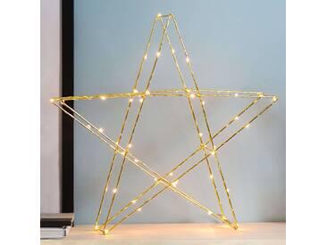 Messingfarbener LED-Stern Super 45 cm