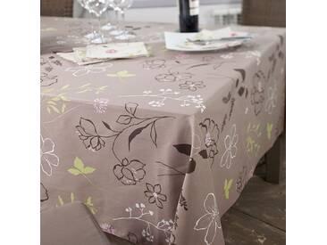 Tischdecke abwaschbar Kamelie Braun