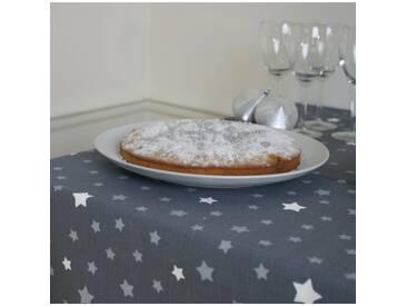 Tischdecke abwaschbar Sterns Grau/Silber