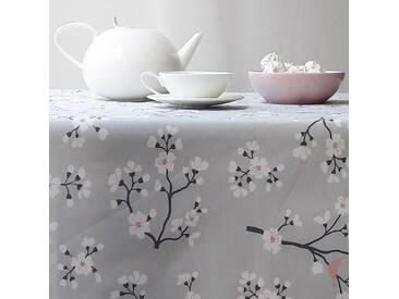 Gartentischdecke Kirschbaum Grau/rosa