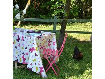 Gartentischdecke Schmetterlinge Grün/Violett