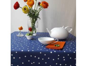 Tischdecke abwaschbar Konfettis Blau