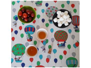 Tischdecke abwaschbar Luftballons Blau