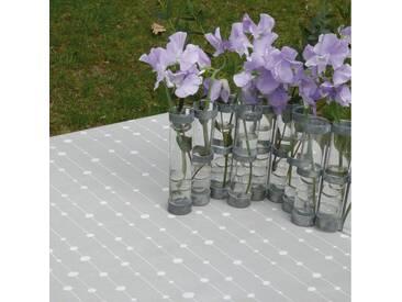 Tischdecke abwaschbar Perlen Grau