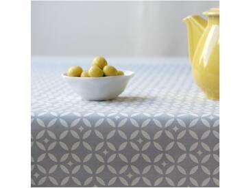 Tischdecke abwaschbar Mosaik Grau/ Weiss