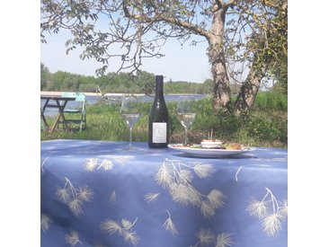 Tischdecke abwaschbar Tannenzapfen Lavendel