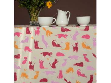 Tischdecke abwaschbar Katzen Rosa