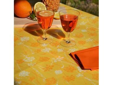 Tischdecke abwaschbar Kräuter Gelb