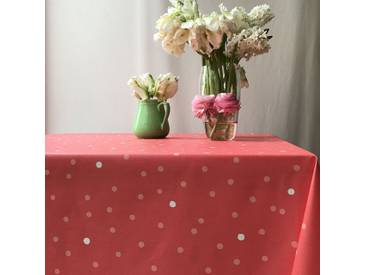 Tischdecke abwaschbar Konfettis Koralle Rosa