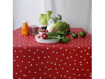 Tischdecke abwaschbar Konfettis Rot