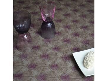 Tischdecke abwaschbar Federn Braun