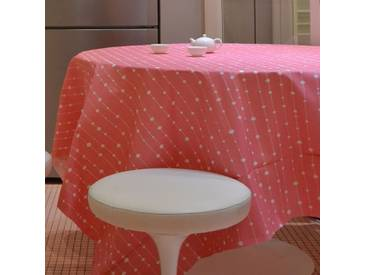Tischdecke abwaschbar Perlen Rosa