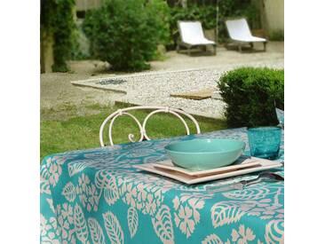 Gartentischdecke Hortensie Türkis