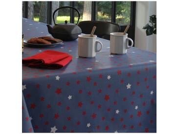 Tischdecke abwaschbar Sterns Blau/Rot