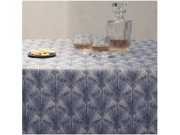 Tischdecke abwaschbar Federn Blau