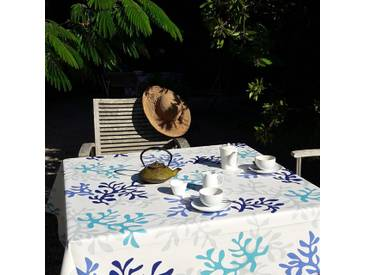 Tischdecke abwaschbar Koralle Blau