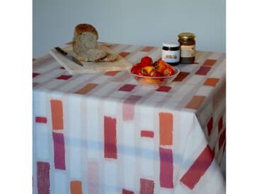 Gartentischdecke Streifen Orange