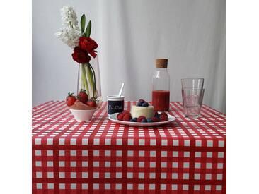 Tischdecke abwaschbar Guinguette Rot