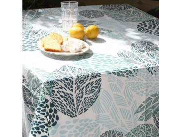 Wax Tischdecke Blat Grün