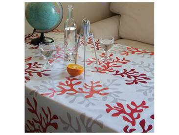 Tischdecke abwaschbar Koralle Rot