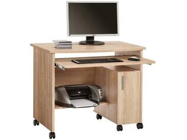 Schreib- und Computertisch in Sonoma Eiche Nachbildung, mit Tastaturauszug, Maße: B/H/T ca. 94/77/60 cm