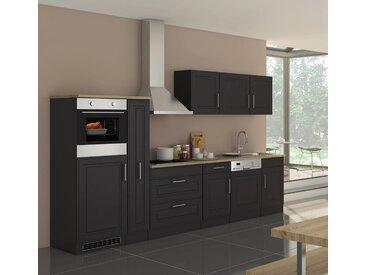 Küchenblock, grau matt, Stellmaß: ca. 330 cm, mit Elektrogeräten inkl. Geschirrspüler