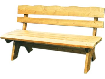 Gartenbank 3-sitzer aus massivem Kiefernholz in hellbraun imprägniert, Maße: B/H/T ca. 150/82/60 cm