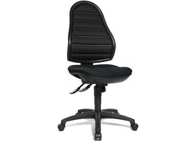 Bandscheibendrehstuhl GS-geprüft in schwarz, Rückenlehne über Raster-Mechanik höhenverstellbar, Sitzbreite: ca. 48 cm