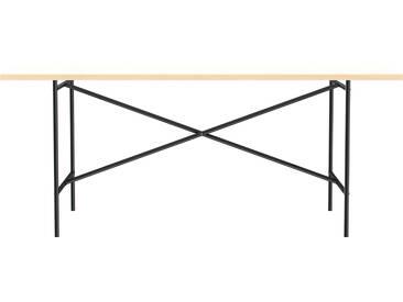 Besprechungstisch E2 - 180 x 90 cm - Moderner Bürotisch mit mittigem Kreuz - Tischplatte weiß - Gestell schwarz - von Modulor