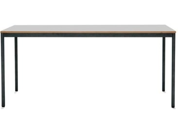 Schreibtisch M1 - 160 x 80 cm - Konfigurierbarer Konferenztisch, Bürotisch - Tischplatte weiß/Buche - Gestell anthrazit - von Modulor