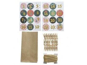 Adventskalender zum selber machen 24 Tüten Modell 3 Mehrfarbig