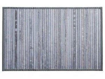 Bambusteppich (80 cm) Grau