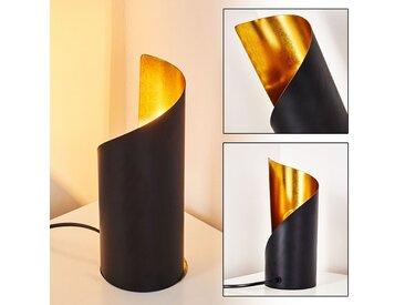 Yahuma Tischleuchte  Schwarz-Gold, 1-flammig - Modern - Innenbereich - versandfertig innerhalb von 1-2 Werktagen