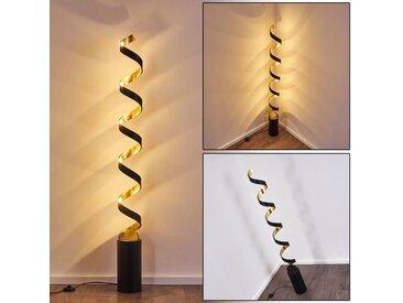Rezat Stehleuchte LED Schwarz-Gold, 1-flammig - Design - Innenbereich - versandfertig innerhalb von 1-2 Werktagen