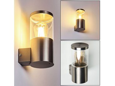 Bodio Außenwandleuchte Chrom, 1-flammig - Modern/Design/Puristisch/Basic/Zeitlos - Außenbereich - versandfertig innerhalb von 4-8 Werktagen