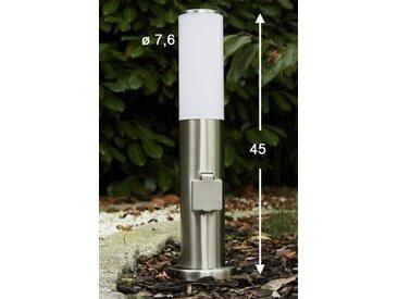 Caserta Sockelleuchte Edelstahl, 1-flammig - Modern - Außenbereich - versandfertig innerhalb von 1-2 Werktagen